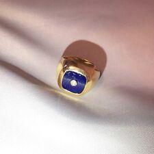 14k Estate Yellow Gold Lapis Lazuli Ring Men