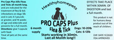 Flea and Tick Control Killer Dogs / Cats 10-20lb/ 6-12lb Oral prevention 30 days