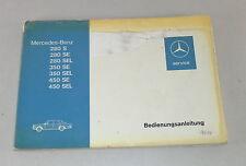 Betriebsanleitung Mercedes S-Klasse W116 280S / SE / SEL / 350 SE / SEL / 450 SE