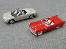 Hallmark Thunderbird Cars NIB 2005 Ornaments 50th Anniversary 2 Die-Cast Models