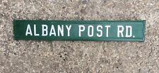 ALBANY POST ROAD - aka Rte 9 - Old NYC Postal Transportation Rte Metal Road Sign