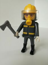 Playmobil Figure - Modern(ish) Firefighter with Helmet and tank (Loose)