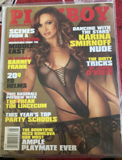 May 2011 Playboy Men's Pinup Girl Magazine Barney Frank Karina Smirnoff Playmate