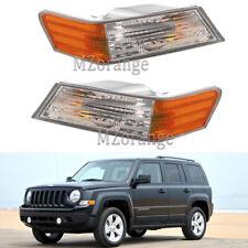 Pair Side Marker Corner Light Front for 2007-16 Jeep Patriot Driver Incandescent
