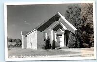 Roberta Georgia GA Methodist Church Chapel Vintage Real Photo Postcard B81