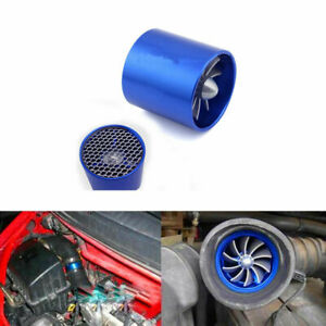 Air Intake Turbonator Dual Fan Turbine Gas Fuel Saver Turbo Supercharger 1 Pcs