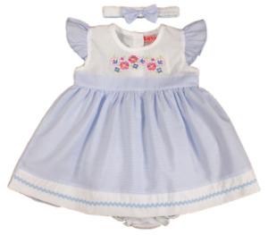 Baby girl DRESS set headband striped floral