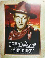 Tin Metal Sign John Wayne the duke gun hat legend cowboy western star movie 2230