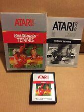 VIDEOGAME ATARI 2600 REAL SPORT TENNIS PERFECT VINTAGE!