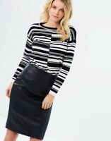 Karen Millen Striped Jumper Top Knitted Sweater Pullover Casual S 10 38 KZ056
