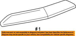 Lincoln FORD OEM 07-14 Navigator Hood-Front Molding Trim 7L7Z16856BPTM