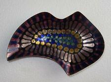 plat ou vide poche en cuivre émaillé signé métal arte sulmona - design 1950