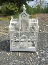 """Victorian vintage Bird Cage 26""""Large Cathedral Style Wooden Handmade Shabby Chic"""