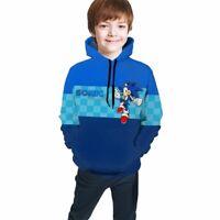 Sonic Sweatshirt The Hedgehog Boys Girls Pullover Hoodie Long Sleeve Shirts Gift