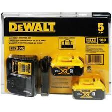 Dewalt Dcb205-2Ck 5Ah Li-Ion Dcb115 2 Battery Batteries Charger Bag Kit 20V