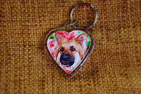 German Shepherd Gift Keyring Dog Key Ring heart Birthday Gift Mothers Day Gift