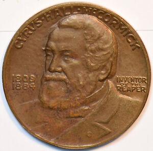 1831 1931 Horse animal Cyrus McCormick Bronze Medal - Centennial of the Reaper