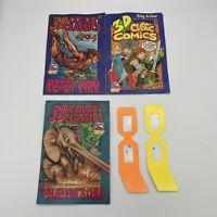 Wendy's 3-D Classic Comics #2,4,5 Comic Lot 1994 1995