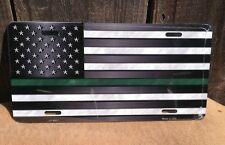 American Flag Thin Green Line Wholesale Metal Novelty License Plate