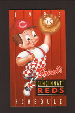 Cincinnati Reds--1995 Revised Pocket Schedule--Frisch's Big Boy