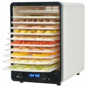 vidaXL Disidratatore Cucina con 10 Vassoi 550 W Bianco Essiccatore Alimentare