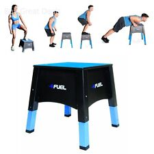 Fuel Pureformance Adjustable Plyometric Box, Fitness Equipment Non Slip Plyo Box