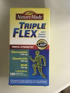 Nature Made TripleFlex Triple Strength 120 Caplets NEW Sealed Exp. 01/22