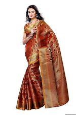 Women's Silk Saree With Blouse Piece (164-Mrn,Maroon,Free Size)