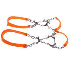 Ice Shoe Grippers Cleats Fit EUR 35-45 for Outdoor Walking 6 Teeth Orange