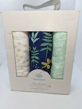 Cloud Island Muslin Swaddle Blankets Wildflower 3 Pack Floral NEW DISTRESSED BOX