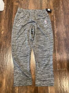 New Nike NBA San Antonio Spurs Dri-Fit Gray Warm Up Travel Pants Size 2XL-TALL