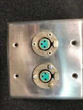 Xlrf Dual Wall Plate Switchcraft Free Shipping!