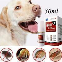 Pet Cats Dogs Flea Killer Spray 30ml Puppy Tick Mite New Treatment Liquid M H9Z7