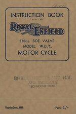 1941 ROYAL ENFIELD 350 CC MODEL W.D./C. MOTOR CYCLES BETRIEBSANLEITUNG ENGLISCH