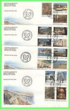 More details for cyprus 1985 definitive set on four first day covers