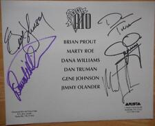 """Diamond Rio Hand Signed  Back Color  Photo 10""""X 8"""" Autographed Pre Printed Front"""