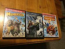 Lot of 3 DVD's, MADAGASCAR, OPEN SEASON and VAN HELSING (Hugh Jackman)