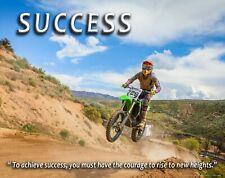 Motocross Motorcycle Racing Success Motivational Poster Art Print Wall Decor