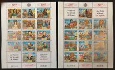 Monaco #2023-24 2 Sheets of 13 1997 MNH
