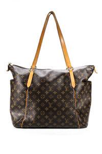 Louis Vuitton Canvas Monogram Totally MM Two Strap Medium Tote Bag Brown