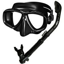 Promate Scuba Diving Snorkeling Purge Dive Mask Dry Snorkel Gear Package Set