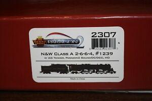 Norfolk & Western N&W 2-6-6-4 #1239 Class A. DCC/Sound. BLI HO Scale