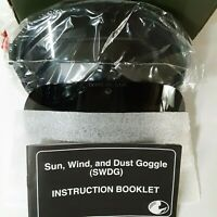 Military Issued Sun, Wind, & Dust Ballistic Goggles W/ 2 Lenses, UV Protection