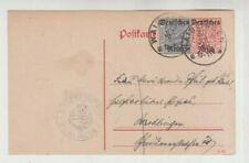 Deutsches Reich, Dienst Ganzsache mit Aufdruck und ZF, Waiblingen, Bez. Notariat