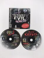 Resident Evil 3 Nemesis PlayStation PS1 Disc And Manual + Dino Crisis Demo