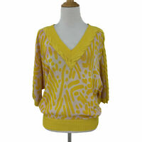 Vintage Florentine Flowers Women's Size 1 Made Italy Animal Print Knit Sweater