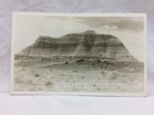 Vtg The Battleship Postcard Petrified Forest Arizona Monument Frasher Foto RPPC