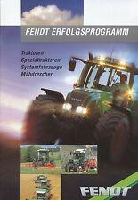 Fendt Programm Traktor u.a. Prospekt 10/00 brochure Broschüre 2000 Trecker