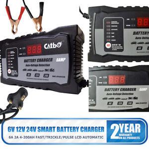 Car Battery Charger 6V 12V 24V Smart Pulse Repair Portable Leisure Automobile UK