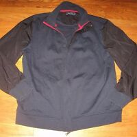 Nautica Men's Bomber Coat Track Jacket Blue Shell Black Sleeve size XL MINT